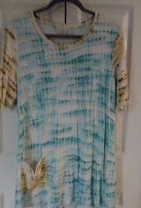 LOGO by Lori Goldstein Tie Dye French Terry Tunic
